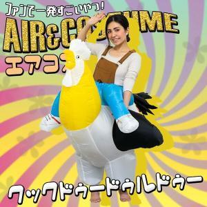 エアコス クックドゥードゥルドゥー ハロウィン コスプレ 面白い チキン 鶏 にわとり ニワトリ 衣装 おもしろコスプレ 仮装 おもしろコスチューム|happy-joint