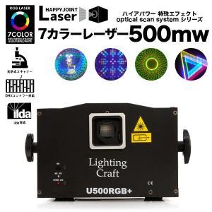 OSSS ハイアパワー 特殊エフェクト 7カラーレーザー 500mw 照明 レーザー ビーム フルカラー DMX 音調 コンパクト クラブ ディスコ パーティー カラオケ|happy-joint
