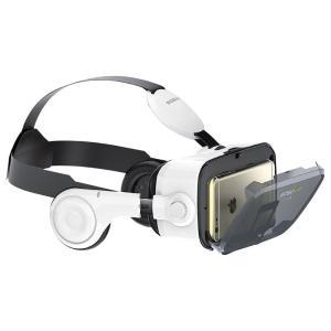 本格VR体験!ヘッドフォン機能搭載モデル。メガネをかけたまま使用可能!イヤホン付。視角(FOV)12...
