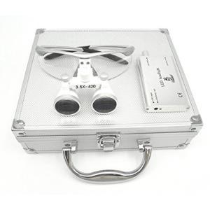 Doc.Royal双眼ルーペ(3.5X拡大鏡)LED ライト/ポータブル拡大鏡 (銀)Japan在庫あり [並行輸入品]|happy-square