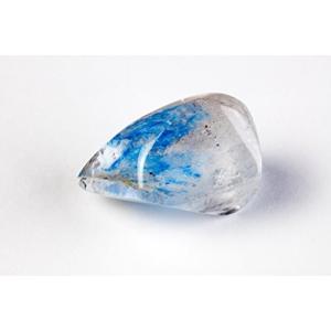 コレクターが生涯探し求めるレアストーン 希少 パパゴアイト パパゴ石 無垢透明の水晶に鮮やかなブルーの発|happy-square