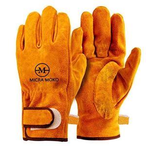 耐熱グローブ牛革手袋 キャンプグローブ 耐熱 耐久質高工事 BBQ 家電製品の修理用 裏付き吸汗や防寒手袋|happy-square