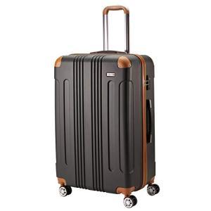 (ムーク)M∞K 超軽量スーツケース TSAロック付き 機内持ち込みSサイズ~Lサイズ (Sサイズ, ブラック)|happy-square