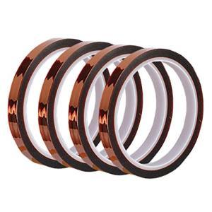フェリモア 絶縁テープ ポリイミド 耐熱 補強 カプトンテープ 耐高温 4個セット (幅1cm33m)|happy-square