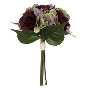 ディープな色合いのローズと、まだ緑の残るパープルの紫陽花をアレンジした、ローラアシュレイの美しいブー...