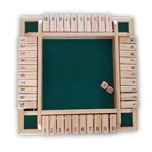 フェリモア シャットザボックス ボードゲーム ダイス ゲーム 4人プレイ 木製おもちゃ パズル|happy-square