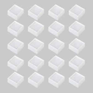 HAMILO ルースケース 宝石 裸石 天然石 ジュエリー 小物入れ スポンジ入り 窓付き ボックス (20個セット)|happy-square