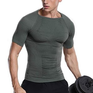 メンズ コンプレッションウェア 加圧シャツ メンズ 加圧インナー トレーニングウェア 通気防臭 スポーツウェ happy-square