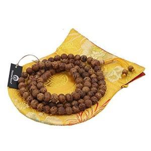 DharmaObjects 数珠 鳳眼菩提樹 108玉 チベット仏教瞑想用 本物 慈悲心|happy-square