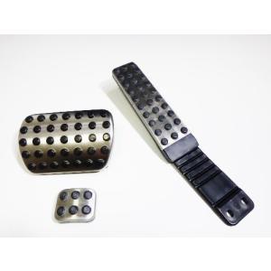 ベンツ W221 W220 W140 W215 R230 R129 W219 W211 W210 W203 W202 W209 W208 純正品 アクセルブレーキサイドペダルセット新品 (mb-ped|happy-square