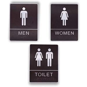 フェリモア トイレ 標識 プレート カフェ 飲食店 バー 案内 ホテル 高級感 男女 3種セット happy-square