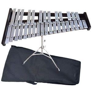 HAMILO 楽器 鉄琴 32音 グロッケン スタンド カバー付き モノトーン アンサンブル 演奏|happy-square