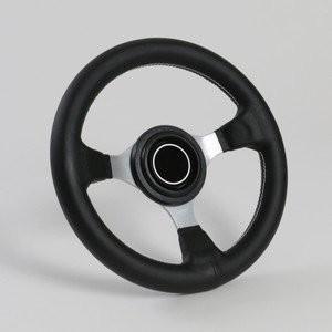 ステアリング 28Φ PVCレザー シルバースポーク ノスタルジック NISMO DATSUN タイプホーンボタン付28パイ(N28PSH)|happy-square