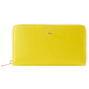 英国 TED BAKER (テッドベーカー) ローズゴールド ミニリボン ラウンドジップ 長財布 イエロー PASY Yellow [並行輸 happy-square