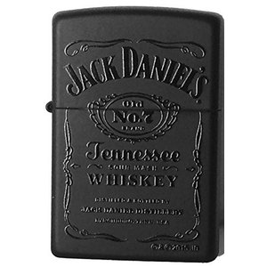 Zippo Windproof Black Matte Lighter With Black Jack Daniels ブラックマットジャックダニエル [並行輸入品]|happy-square