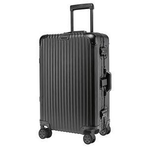 kroeus(クロース)アルミボディスーツケース キャリーケース TSAロック搭載 カバン掛け付き ...