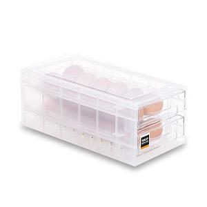 24個 卵ケース卵入れ 冷蔵庫用 卵ボックス 卵収納 卵容器 happy-square