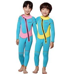 ウェットスーツ キッズ 2.5MM 子供用ウェットスーツ フルスーツ 子ども用 ダイビングスーツ 防...