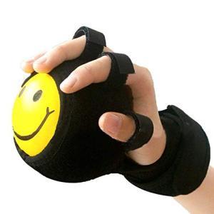 HAMILO リハビリ ボール 手 指 サポーター 固定 トレーニング 握力 エクササイズ 器具 (ブラック)|happy-square