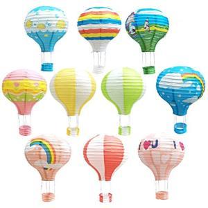 WINOMO 提灯 ちょうちん 紙ランタン 熱気球 折りたたみ ハンギング カラフルレ お盆 七夕 ウェディング パーティ happy-square