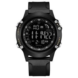 スマートウォッチ 多機能アウトドアウォッチ 歩数計 時間 活動量計 擦り傷防止 Bluetooth4.0 腕時計 smart watch 着信 happy-square