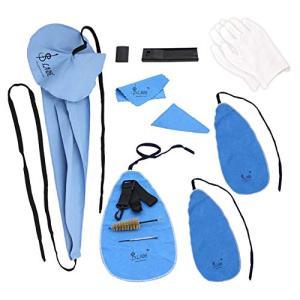 HAMILO クリーニングキット サックス用 金管楽器 お手入れ お掃除 マウスピースブラシ スワブ (12点セット)|happy-square