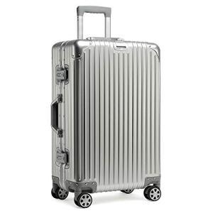 kroeus(クロース)スーツケース キャリーケース アルミ合金ボディ カバン掛け TSAロック搭載...