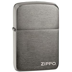 ZIPPO(ジッポー) 1941 Replica Lighters (レプリカ ライター) 日本未発売 Black Ice Logo [並行輸入品]|happy-square