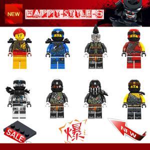 レゴ レゴブロック LEGO レゴミニフィグ ニンジャゴー 忍者8体Eセット 互換品 クリスマス プ...