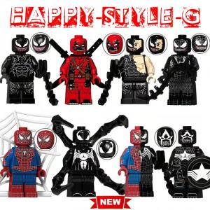 レゴ レゴブロック LEGO レゴミニフイグ ヴェノム デッドプール ス パイダーマンなど8体Eセッ...