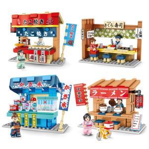 レゴ レゴブロック LEGO レゴ たこ焼き屋台他4個セット 互換品 クリスマス プレゼント