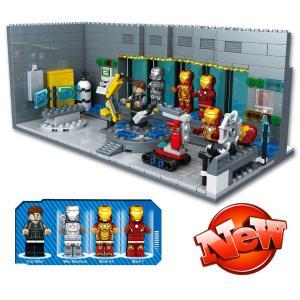 レゴ レゴブロック LEGO レゴアベンジャーズアイアンマン地下実験室 互換品