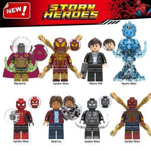 レゴ レゴブロック LEGO レゴミニフイグ スパイダーマンなど8体Gセット 互換品リスマス プレゼ...