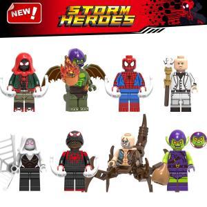 レゴ レゴブロック LEGO レゴミニフイグ スパイダーマンなど8体Cセット 互換品 クリスマス プ...