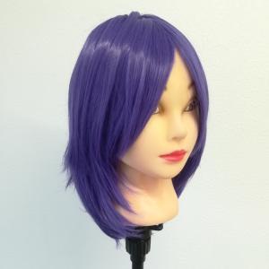 紫☆サラサラ毛質の36cmレイヤーボブストレート☆パープル☆コスプレウィッグ