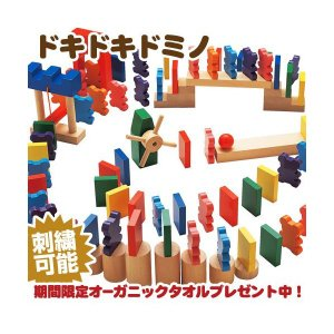 エドインター ドキドキドミノ パズル 積み木 絵本 ブロック おもちゃ ギフトセット|happy3baby