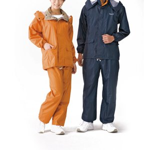 Hanes男女兼用レインスーツ [検索用キーワード=内側はメッシュ生地素材で蒸れを防ぎ、フード部分は取り外し可能なレインスーツ。]|happybasketfurniture