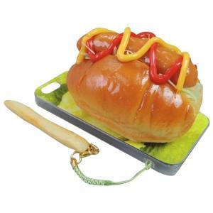日本職人が作る  食品サンプルiPhone5ケース ホットドック  ストラップ付き  IP-230|happybasketfurniture