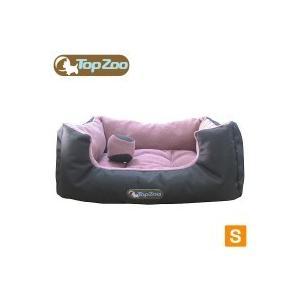 代引き不可フランス TopZoo/トップズー ペットベッド ドゥドゥコージ キャンバスピンク S(W50×D38×H21cm)|happybasketfurniture