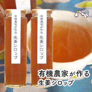 国産温生姜シロップ 有機農家の生姜 ジンジャーシロップ180ml 2本セット