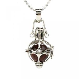 ◆大粒12mm玉のレッドタイガーアイを豪華なシャンデリアデザインで仕上げたボリューム感溢れるゴージャ...