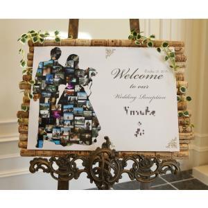 ☆結婚式☆ウェルカムボード★大量の写真を使ったおしゃれでかわいいウエルカムボード結婚式★フレーム付
