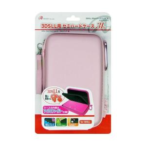 アンサー 3DS LL用 「セミハードケース 3L」 (ピンク) ANS-3D026PK〔×3セット〕