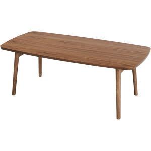 【商品名】 天然木フォールディングテーブル/折りたたみローテーブル 【幅105cm】 ウォールナット...