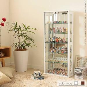 コレクションケース おしゃれ 鏡 シンプル 上質感 高級 棚 ラック コレクションラック フィギュアケース Colete〔コレテ〕|happyconnect