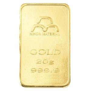 純金 インゴット 20g 日本マテリアル 24金 グッドデリバリーバー ゴールドバー 金塊 金の国際...