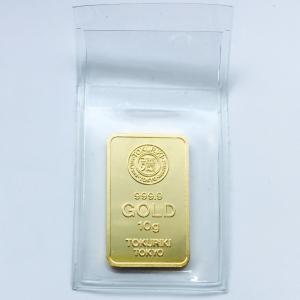 インゴット 10g 金の国際公式ブランド 徳力 24金 品位99.99% グッドデリバリーバー 純金...