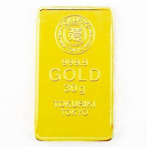 純金 インゴット 30g 徳力本店 24金 グッドデリバリーバー ゴールドバー 金塊 金の国際ブラン...