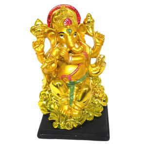 インドの神様で特に有名で人気のあるガネーシャの置物カラフルバージョンです。  お香をガネーシャ様に捧...
