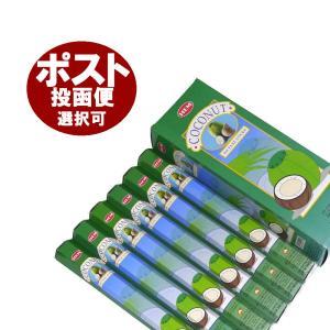 インドのお香/ココナッツ香/HEM COCONUT/フルーツ/6箱セット